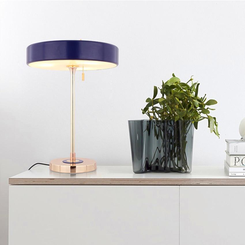 Nordic Metal Bedroom Bedside LED Table Lamps LOFT Indoor Home Lighting Desk Lamp Study Desk Wrought Iron Table Lights Decoration
