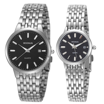New Couple Watches WOONUN Top Brand Luxury Gold Ultra Thin Quartz Watches Women Men Lovers Watch Set Valentine Gift дамски часовници розово злато