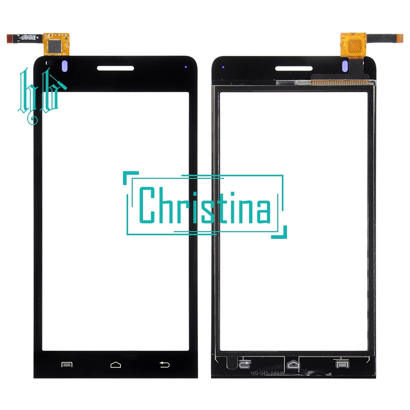 New Brand 4.5Inches Black Touch Panel Lens HH For Explay Tornado Touch Screen Digitizer Front Glass Sensor Replacement +Tools