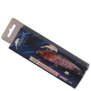 Image 5 - Inteligentne wędkowanie ołówek przynęta 91mm 14.8g Topwater Wobbler VMC zestaw haczyków Isca sztuczne Para Pesca długie rzucanie karpia Bass Lure