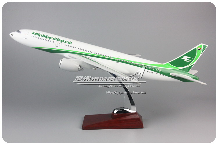 47cm Resin Iraqi Airways Airplane Model Boeing 777 Iraqi Airlines Model B777-200ER YI-AQZ Airbus Aircraft Plane Aviation Model 1 400 jinair 777 200er hogan korea kim aircraft model