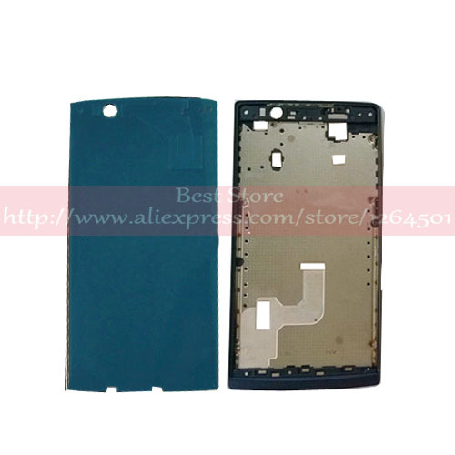 adhesive+Middle Cover Frame LCD Bezel Buttons For OPPO X909 Find 5 black Free Shipping