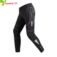 SANTIC Men S Thermal Cycling Pants Winter Windproof Polyester Mtb Pants Mountain Bike Bicycle Pants Black