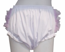 Adult Baby Ruffle Panties Bloomers incontinence Diaper Cover/FMP03-1&2,M / L / XL