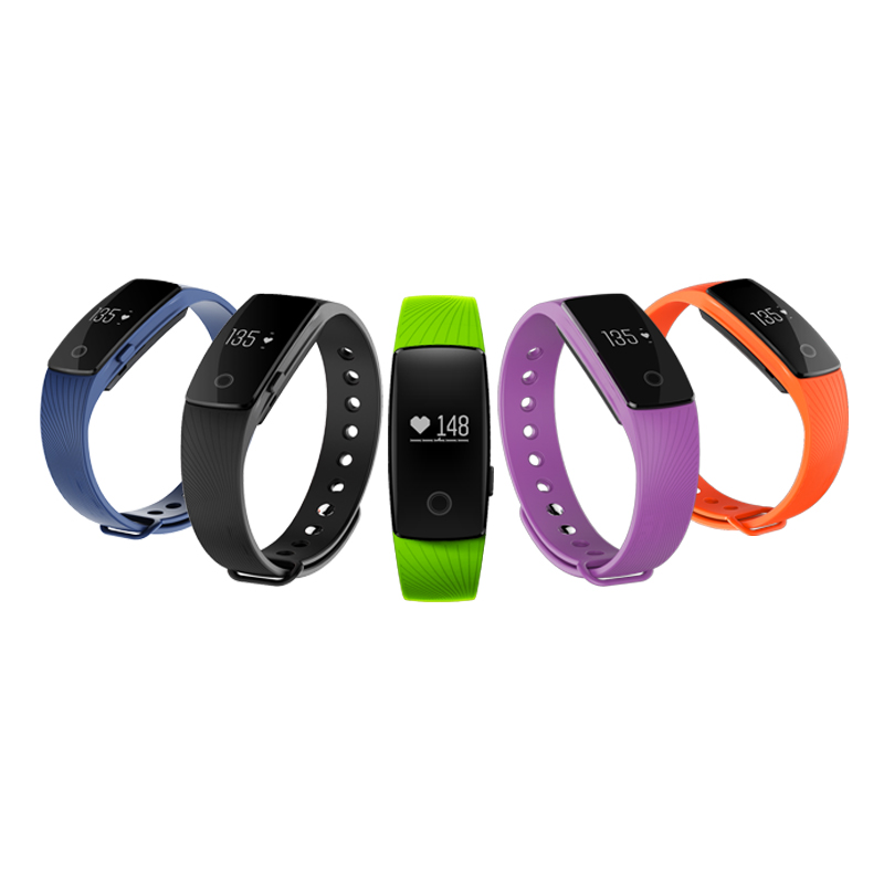 ID107 Bluetooth V4 0 Fitness Tracker Monitor Cardiaco Smartband Heart Rate VS Fit Bit Miband 2
