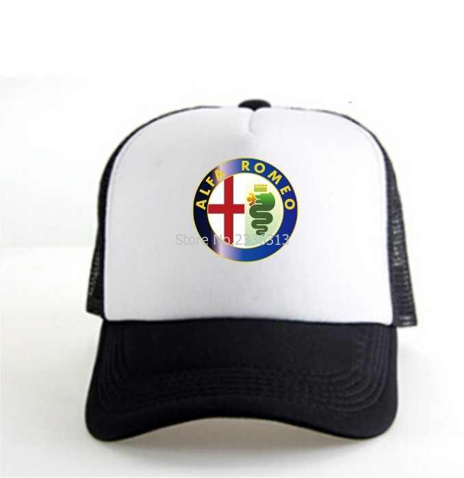 في الهواء الطلق الرجال السود الطباعة نمط الفا روميو قبعة بيسبول دراجة نارية سيارة المشجعين قبعات قبعة الشمس