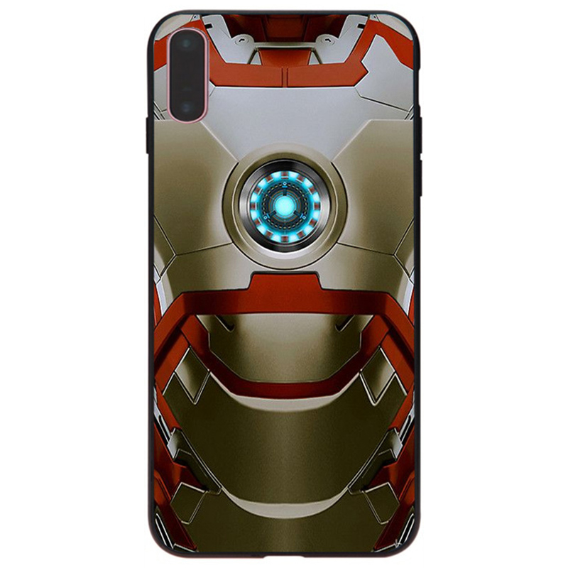 Maiyaca For Iphone 8 X Iron Man Wallpaper Rubber Black Soft Phone