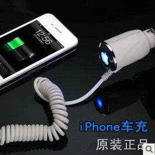 New mini usb car charger for iphone4/4S/5 ipad2/3/4 the new pad itouch ipod