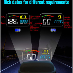 Image 2 - C800 GPS HUD Head Up Display Multi Function OBD HUD Auto Speedometer OBD2 Fault Code Elimination Driving ComputerSecurity Alarm