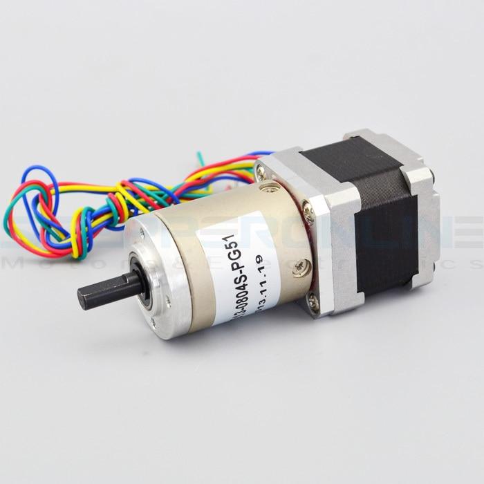 цена на Gear ratio 51:1 Planetary Gearbox stepper motor Nema 14 0.8A Geared Stepper Motor 3d printer stepper motor 14HS13-0804S-PG51