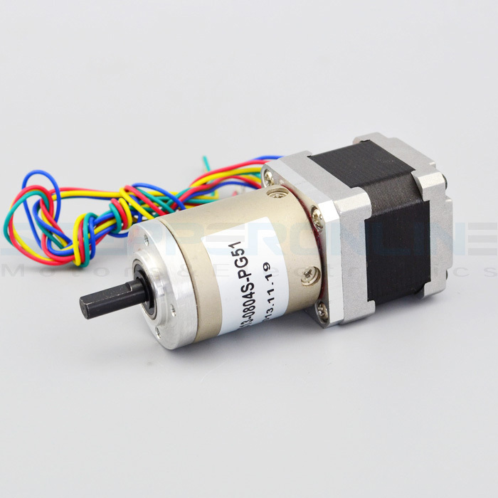 Nema 14 Geared stepper motor Gear ratio 51:1 planetary reduction gearbox 1.0A stepper gear for 3d printer 35*35*77.6mm nema23 geared stepping motor ratio 50 1 planetary gear stepper motor l76mm 3a 1 8nm 4leads for cnc router