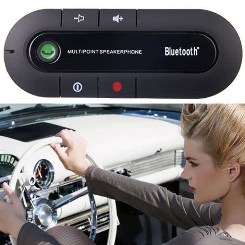 Universal Bluetooth Car Kit Speakerphone Handsfree Wireless Speaker Phone Mic for Mobile Phone bluetooth link car kit handsfree phone call