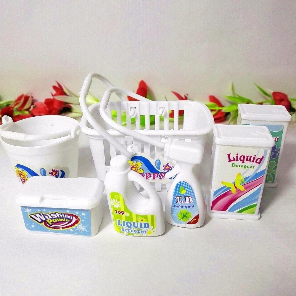 Boîte de butin, seaux, détergents, kit de lavage domestique pour - Poupées et accessoires - Photo 5