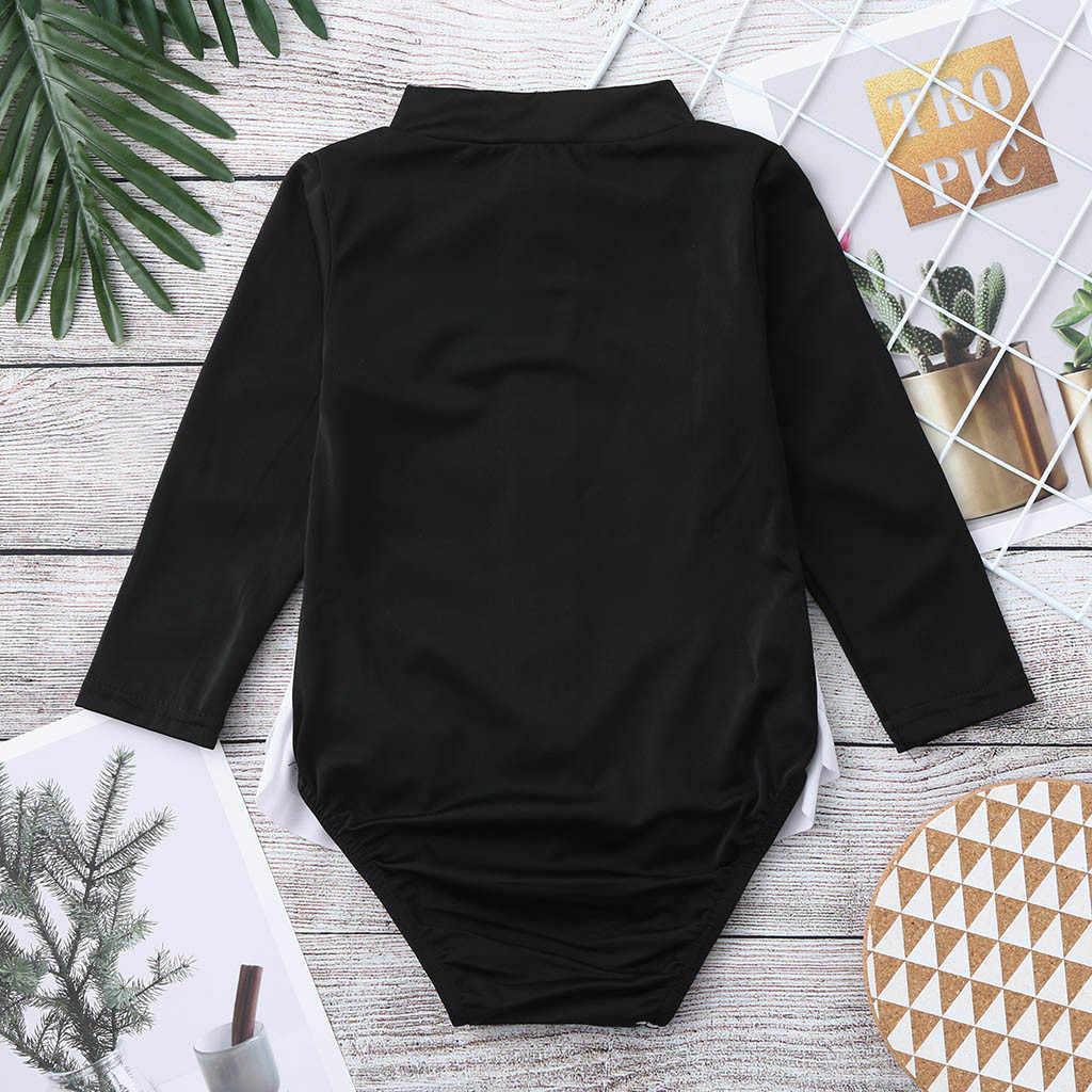 Bayi Baju Monyet Bayi Pakaian Katun Kasual Perempuan Ruffles Kartun K Berlaku Ritsleting Pakaian Renang Baju Renang Bayi Anak Romper