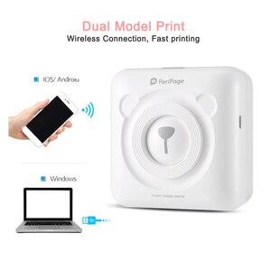 Image 2 - Impresora de bolsillo Térmica Bluetooth Mini mobile Impresora portátil de 58 mm para teléfonos Android iOS Se envía desde España / Rusia Impresoras de bolsillo
