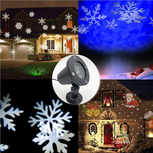 Image 3 - New Laser Projector IP65 Moving Snow Snowflake Led Stage Lamp Christmas New Year SpotLight LED Party Garden Lawn DJ DMX Lighting