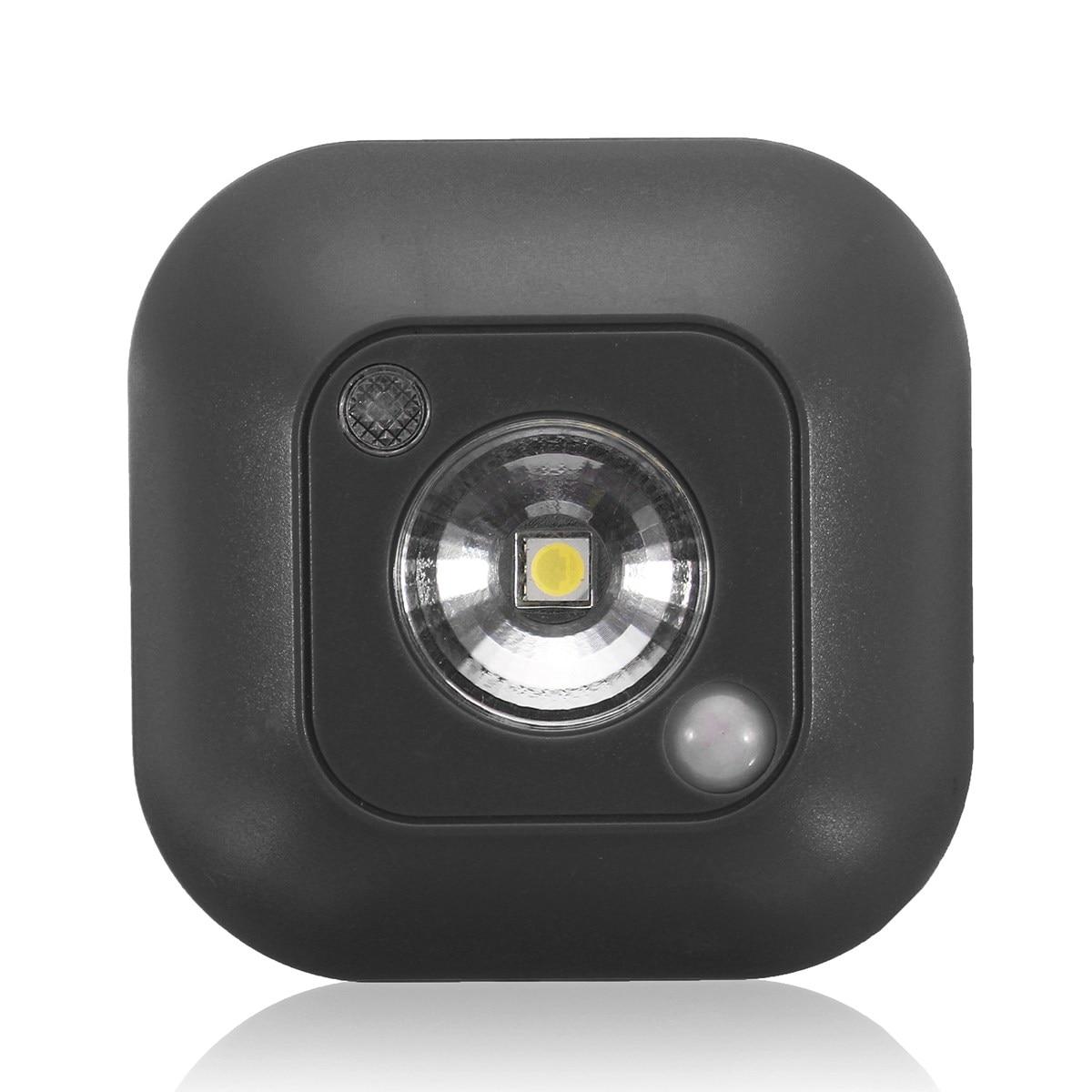 Square PIR Motion Sensor LED Light Control Emergency Night Light Ceiling Mini Wall Lamp Closet Cabinet Hallway Energy Saving