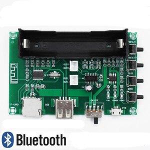 Image 5 - GHXAMP PAM8403 Bluetooth Amplifikatör ses Kurulu 5 W * 2 Lityum Pil Şarkı Makinesi USB TF Kart Çift Kanal mini Hoparlör DIY