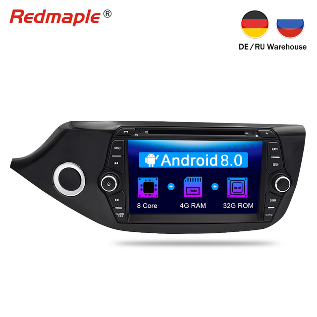 Octa Core Android 8.0 Car Radio GPS Navigation Multimedia DVD Player For Kia Ceed 2012 2013 2014 2015 2016 Auto RDS Audio Stereo