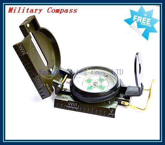 Military Hiking Camping Lens Survival Lensatic Compass,  Military Compass Free Shipping