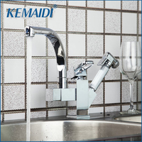 Special Kitchen Sink Dual Function Pull Out Down Swivel 360 Spray Chrome Tap Brass Basin Faucet