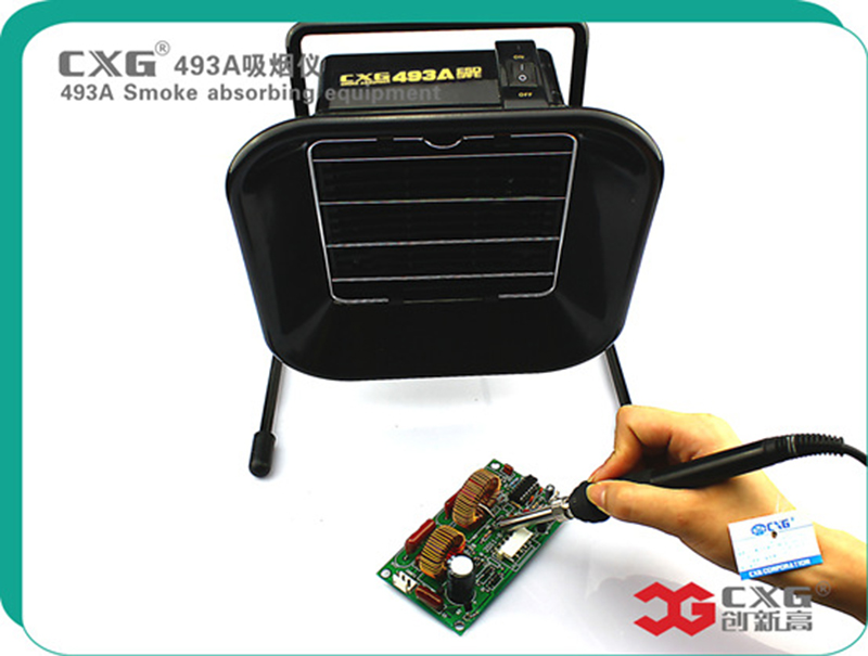 220V CXG493A Portable Solder Smoke Absorber ESD Fume Extractor Welding smokers and with Roller motor цена