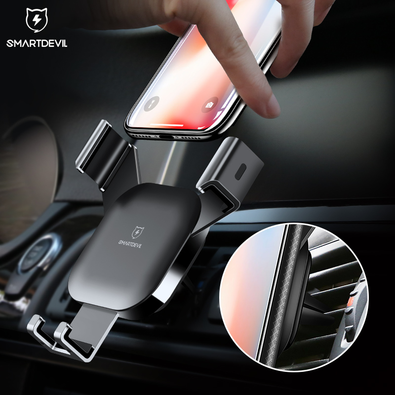 SmartDevil Car Phone Holder for iphone X 8 7 6 Plus Gravity CD Slot Mount Holder for Samsung Galaxy S8 S9 Mobile Phone Stand