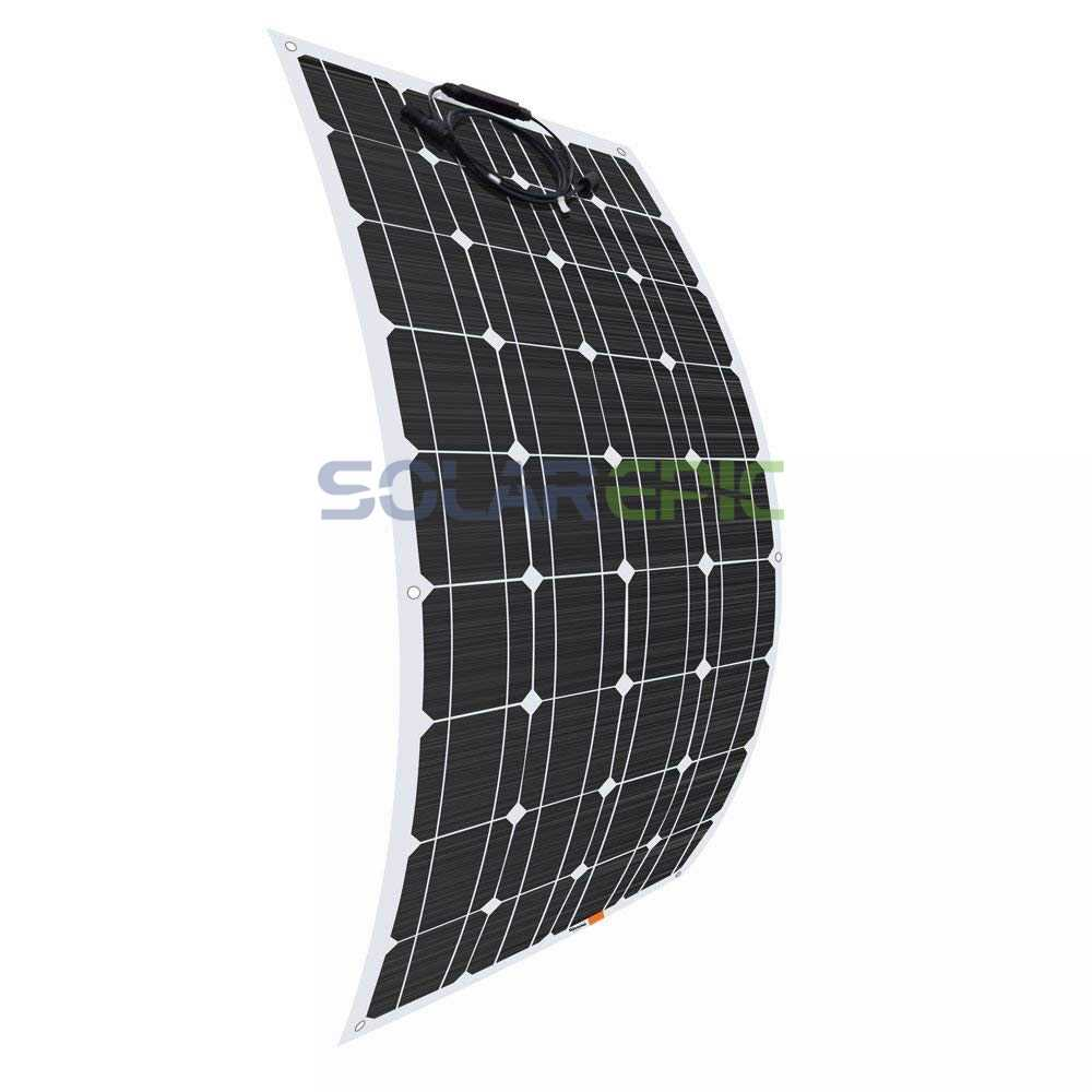 100W 18V Solar Panel 100W Flexible Solar Panel Solar Cells Monocrystalline Silicon Waterproof Panel 25 Years Warranty