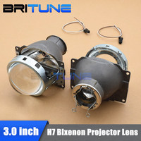 3 Inches Q5 Koito HID Bi xenon Projector Lens Headlight LHD RHD Using H7 D2H D2S HID Halogen LED Lamp Shrouds Car Styling