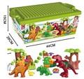 40Pcs/Lot Dino Valley Building Blocks Sets Large particles Animal Jurassic World Model toys Bricks Duploe No original box