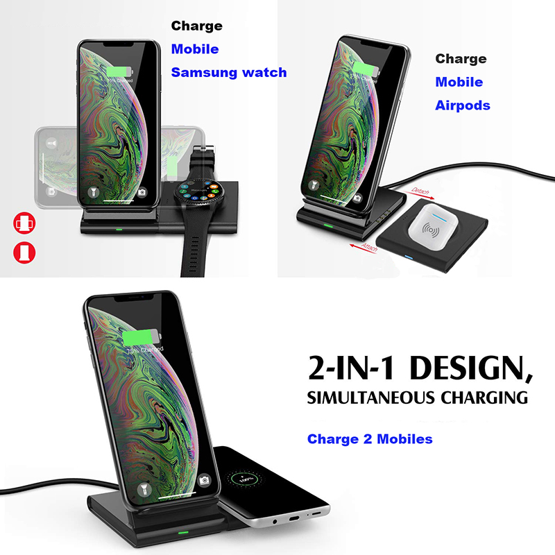 Image 4 - qi Magnetic Wireless charger desktop station for iPhone 8 XR 