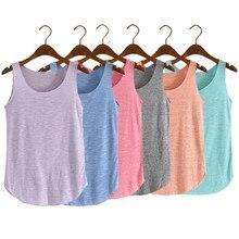 Fashion Women Summer Fitness Tank Top Loose Cotton O neck font b Slim b font Elastic