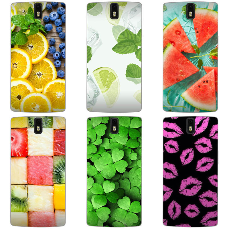 Hard Case for <font><b>Oneplus</b></font> 1 <font><b>One</b></font> Plus <font><b>One</b></font> <font><b>A0001</b></font> 1+ Thin <font><b>Back</b></font> Cover UV Painting PC Shield Protective Case Cute Flower Phone Shell Bags image
