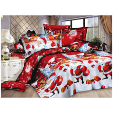 Christmas Home textile Cotton bedclothes high-quality 4pc bedding set(China)