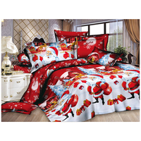 Christmas Home textile Cotton bedclothes high quality 4pc bedding set