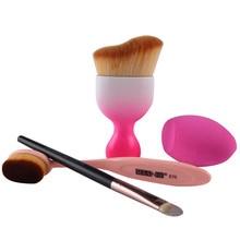New Design Foundation Brush Kit 4 pcs Makeup Brushes Cosmetic Cream Powder Blush Brush Set