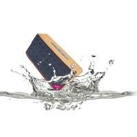 Dual Driver Waterproof Bluetooth Wood Grain Speaker Portable Wireless Grain Audio