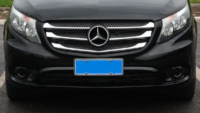 Car body cover protect detector ABS chrome trim Front up Grid Grill Grille For Mercedes Benz Vito W447 2017 2019 in Chromium Styling from Automobiles Motorcycles