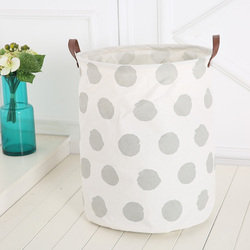 Df Useful Baby Kids Toy Canvas Laundry Basket Storage Bag With Handle Wf