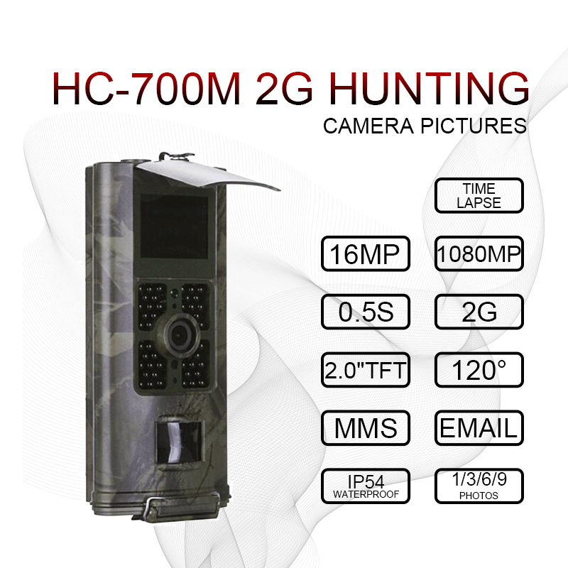 Hunting Camera 2G GSM MMS SMS Trail Camera 0.5s Trigger Time 16MP Night Vision  photo traps HC700M Wildlife Hunter CameraHunting Camera 2G GSM MMS SMS Trail Camera 0.5s Trigger Time 16MP Night Vision  photo traps HC700M Wildlife Hunter Camera