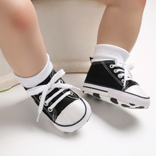 Brand Baby girls Boys Lace-up Canvas Shoes Newborn Sneakers Active All Star Zapatos Bebe shoes toddler canvas