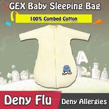 GEX (Из США) Ребенка Спальный Мешок Мешок Для Весна/Осень 100% Хлопок Пижамы Одеяло Пеленать Платье одеяло Спальное YNO1