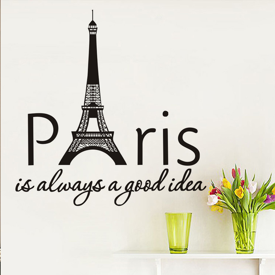 Paris Is Always A Good Idea Quotes Wall Sticker Removable Eiffel