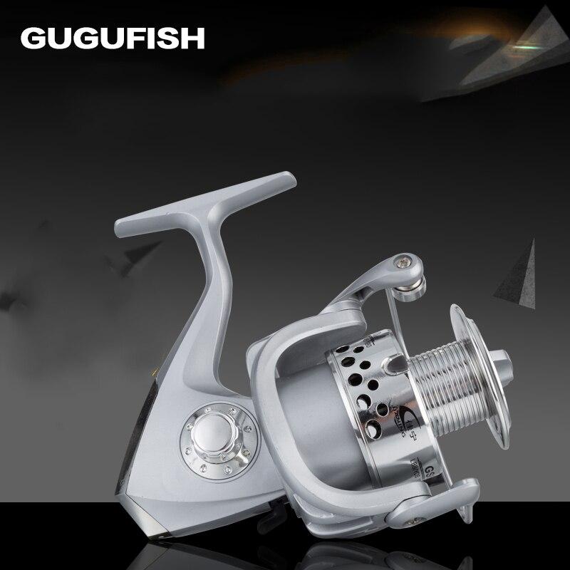 GUGUFISH 5 Ball Bearings spinning fishing reel Gapless metal head spinning wheel Metal Handle 1000-7000 series fishing reels