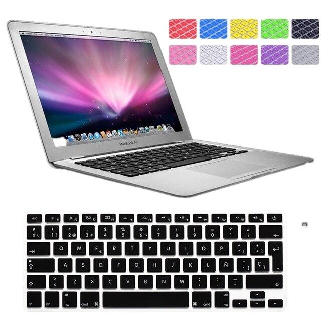 Color múltiple de LA UE Teclado Español Para Macbook Pro 13 15 17 ...