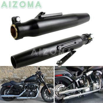 1 Pair Motorcycle Exhaust Exhaust Pipes Muffler Silencer for Harley Yamaha XJR XS Honda CB 125 250 650 750 Matte Black Mufflers