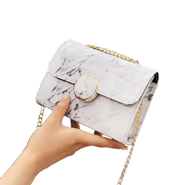 Laamei Bags For Women 2018 Shoulder Bag Female Handbag Marble Las Messenger Flip White