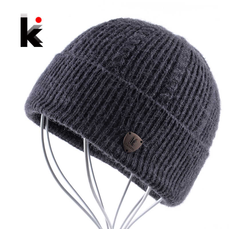 d41664cbd Detail Feedback Questions about Winter Hat Thick Knitted Skullies ...
