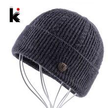 Bonnet en laine tricoté pour homme, avec frange plus épaisse, Bonne qualité, automne et hiver