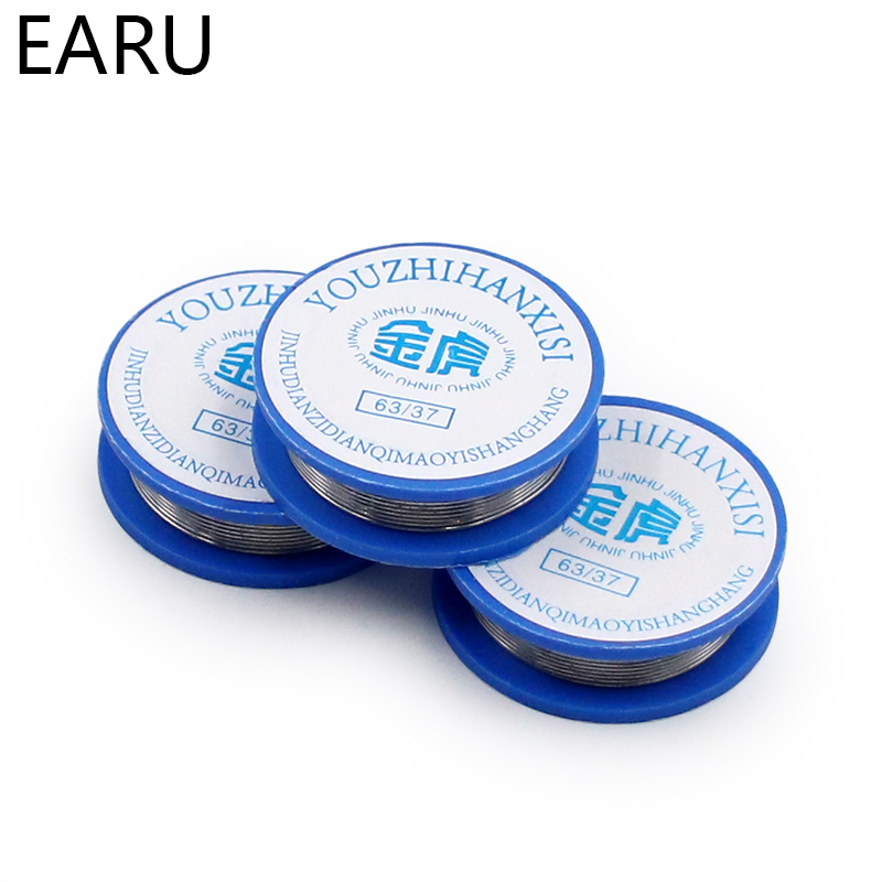 1pc Tin Lead Rosin Core Solder Wire 0.8mm Width 1.7m Length 13g 2% Flux Reel Welding Line New Wholesale Accessories High Quality